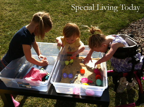 Easiest Homemade Sensory Table