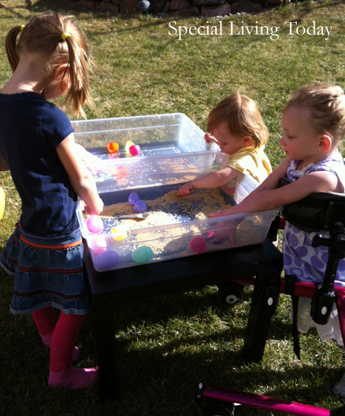 Easiest, Homemade Sensory Table Even a Mom Can Make